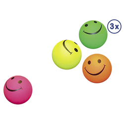 Nobby Moosgummi Smiley Bälle 3er Netz