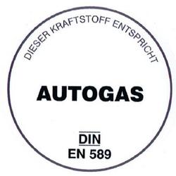 Autogas-Aufkleber