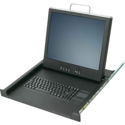 Schäfer IT-Systems TFT-Konsole mit 17Zoll LCD-Monitor RAL9005 75