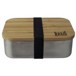 BasicNature Lunchbox Bamboo Edelstahl 1,2L