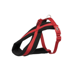TRIXIE Hunde-Geschirr gepolstertes Premium TourenGeschirr, Nylon rot XL - 70 cm - 100 cm