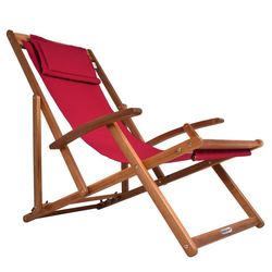 Deuba Gartenliege Klappbar Atmungsaktiv Sonnenliege Strandstuhl Gartenliege Relaxliege Rot rot