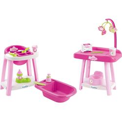 Ecoiffier Puppenpflege-Set 3in1 Puppenhausmöbel