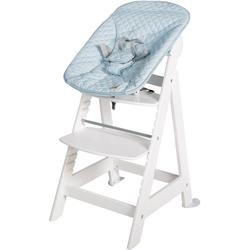 roba® Hochstuhl Treppenhochstuhl 2-in-1 Set Style, Born Up mit Neugeborenen-Aufsatz weiß