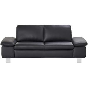 € Basispreis* smart Sofa schwarz - Leder Finola ¦ schwarz ¦ Maße (cm): B: 201 H: 83 T: 94