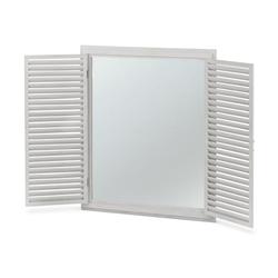 Spiegel mit Lamellen-Fensterläden