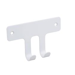 SOSmart24 Handtuchhalter Handtuchhaken Weiß Matt 2-fach aus Metall - Handtuchhalter Bad und WC