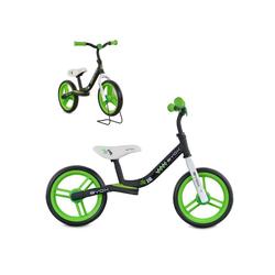 Byox Laufrad Laufrad Zig-Zag 10 Zoll (25,40 cm) Zoll, EVA-Reifen, Sattel einstellbar von 36 - 45 cm ab 12 Monate grün