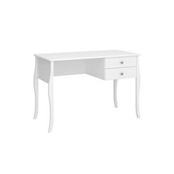 ebuy24 Schreibtisch Cher Schreibtisch mit 2 Schubladen, weiss.