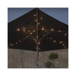 STAR TRADING LED-Lichterkette LED Lichterkette für Sonnenschirm 8 Stränge LED Batterie Timer outdoor Terasse, 64-flammig