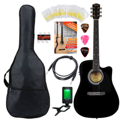 Fender Squier SA-105CE Westerngitarre BK Set