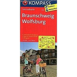Kompass Fahrradkarten: KOMPASS Fahrradkarte Braunschweig - Wolfsburg - Buch