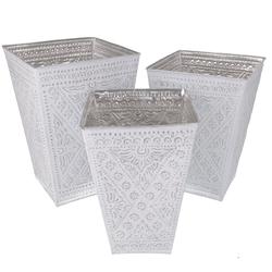 Guru-Shop Allzweckkorb Papierkorb, Exotischer Übertopf aus geprägtem.. 30 cm x 44 cm x 30 cm