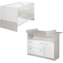 roba® Babymöbel-Set Julia, (Spar-Set, 2-St), mit Kinderbett und Wickelkommode