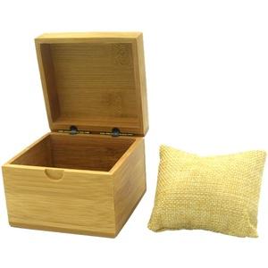 Hemobllo Bambus Uhrengehäuse Uhren Speicherorganisator Uhr Uhrenbox Halter (Bambus Uhrenbox + Leinen Kissen)