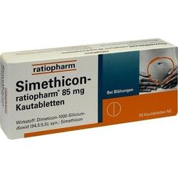 SIMETHICON-ratiopharm 85 mg Kautabletten 50 St