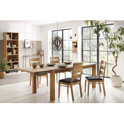 Home affaire Essgruppe Nils 5 (Set, 5-tlg Tisch 180/90 cm, 4 Stühle, Polstersitz) beige Essgruppen Tische Sitzmöbel-Sets
