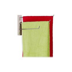 relaxdays Handtuchhalter Handtuchhalter 3 armig