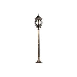 Licht-Erlebnisse Außen-Stehlampe BREST Wegeleuchte außen Rustikal Schwarz Kupfer E27 Stehlampe Garten