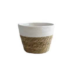 Gotui Aufbewahrungskorb Blumentopf, Gewebter Korb,Wohnkultur 22 cm