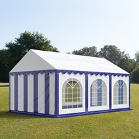 TOOLPORT Partyzelt 3x6m PVC 500 g/m² blau wasserdicht Gartenzelt, Festzelt, Pavillon