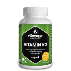 VITAMIN K2 200 µg hochdosiert vegan Tabletten 180 St