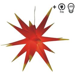 Guru-Shop LED-Stern für außen Wetterfester faltbarer 3D Außenstern Ø 55 cm..