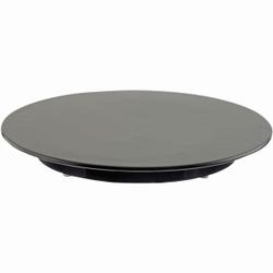 SCHNEIDER Tortenplatte, Melamin, schwarz, Kuchenplatte aus Melamin, Höhe: 30 mm, Ø 240 mm