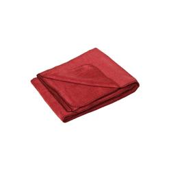 Wolldecke Flauschige Baumwolldecke - regional hergestellt, yogabox, sehr weich und kuschelig rot 150 cm x 100 cm
