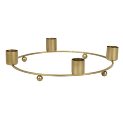 Ib Laursen Kerzenhalter IB Laursen Advent Kerzenhalter Gold für 4 Kerzen