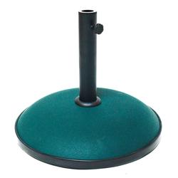 Sonnenschirmständer / Schirmständer Beton dunkelgrün 30 kg Gartenschirmständer