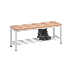 SZ METALL Sitzbank, Sitzbank 1 m, mit Schuhrost 100 cm x 42 cm x 30 cm