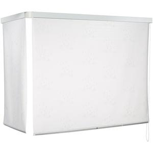 ECO-DuR 4024879001537 Kassetten ECK Duschrollo 137 x 62 cm weiß - Tropfen weiß