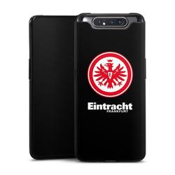 DeinDesign Handyhülle Eintracht Frankfurt schwarz Samsung Galaxy A80, Hülle Eintracht Frankfurt SGE Adler schwarz
