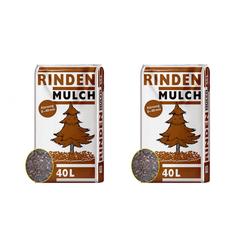 Universal Rindenmulch 0-40mm 2 x 40 Liter Sack Gartenmulch