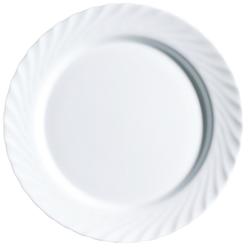Arcoroc Dessertteller Trianon Uni, Teller flach 19.5cm Opalglas weiß 6 Stück Ø 19.5 cm x 1.6 cm
