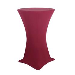 Biertischhusse Stehtischhussen Stretch Stretchhusse für Bistrotische Bartische Tisch Überzug, Moderno rot