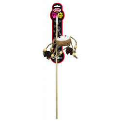 Katzenspielzeug ROD-WOOD-2 Katzenangel 40cm mit Krebs