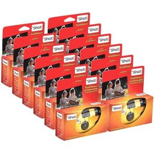TopShot 400 Einwegkamera mit eingebautem Blitz (Paket mit 12 Kamera, 27 Bilder)