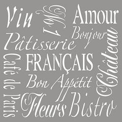 Rayher Dekor-Schablone French Living grau