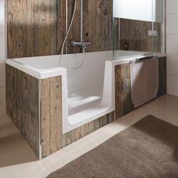 HSK Dobla Bade- / Duschwanne 160 × 75 cm Einstieg links
