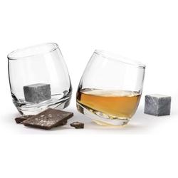 sagaform Whiskyglas (2-tlg), incl. Whisky-Steine aus Granit