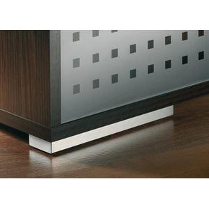 Design-Möbelfuß Edelstahl gebürstet 200x40 mm
