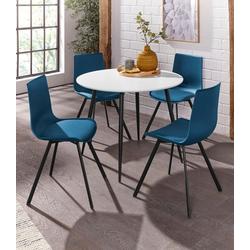 Essgruppe Dino 2 - Lucky, (Set, 5-tlg), Esstisch mit rundem Esstisch und 4 Stühlen grün