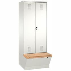 C+P Garderobenschrank mit Aufbewahrungsbox, b120xt50xh209cm