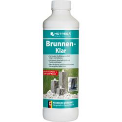 HOTREGA® Brunnen-Klar Brunnenreiniger, Entkalker ideal für Spring- und Zimmerbrunnen, Wasserspiele und Vernebler, 500 ml - Flasche
