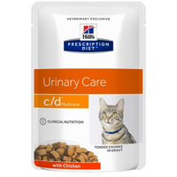Hill's Prescription Diet Feline c/d Multicare Pouches Huhn 12 x 85 g