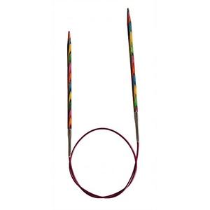 KnitPro Rundstricknadeln, 100 x 5,5 mm, Feste Symfonie Rundstricknadeln, Mehrfarbig