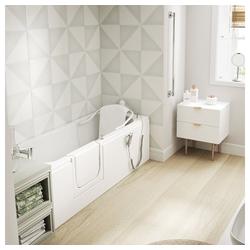 HAK Badewanne LIBERTY Badewanne mit Lift und Tür, 169x69 cm, links