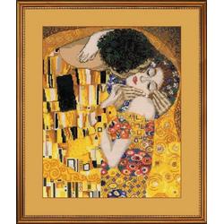 Riolis Kreativset Riolis Stickpackung - The Kiss By Klimt, Zählmuste